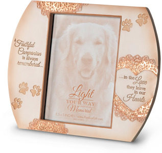 "Faithful Companion by Light Your Way Memorial - 7.25"" x 6""  Frame (Holds 3.5"" x 5"" Photo)"