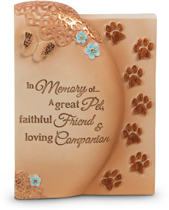 "Faithful Friend by Light Your Way Memorial - 3"" x 4"" Self-Standing Plaque"