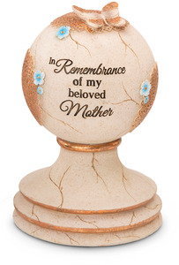"Beloved Mother by Light Your Way Memorial - 7"" Garden Finial"