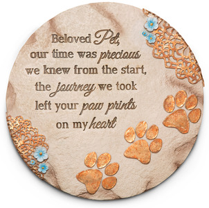 "Beloved Pet by Light Your Way Memorial - 10"" Garden Stone"