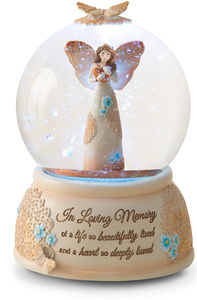 In Loving Memory by Light Your Way Memorial - LED Lit, Musical Water Globe