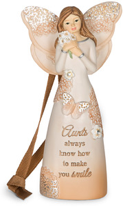 "Aunt by Light Your Way Every Day - 4.5"" Angel Ornament"