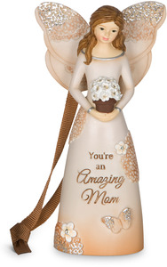 "Amazing Mom by Light Your Way Every Day - 4.5"" Angel Ornament"