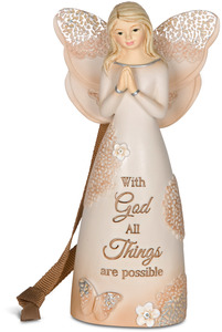 "With God by Light Your Way Every Day - 4.5"" Angel Ornament"