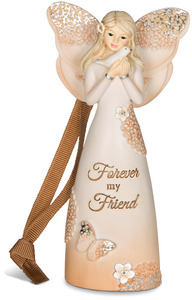 "Forever Friend by Light Your Way Every Day - 4.5"" Angel Ornament"