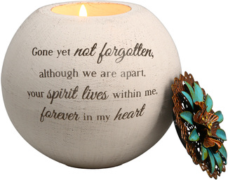 "Forever in My Heart by Light Your Way Memorial - 4"" Round Tea Light Candle Holder"