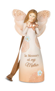 "In Memory of my Mother by Light Your Way Memorial - 4.5"" Angel Ornament"