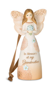 "In Memory of my Grandmother by Light Your Way Memorial - 4.5"" Angel Ornament"