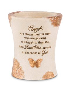 "Angels are Near by Light Your Way Memorial - 5.5"" Outdoor Vase"