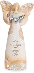 "Love by Light Your Way Every Day - 7.5"" Angel Holding Hearts"