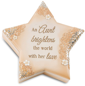 "Aunt by Light Your Way Every Day - 4"" Star Keepsake Box"