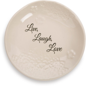 "Live, Laugh, Love by Light Your Way Every Day - 5"" Ceramic Plate"