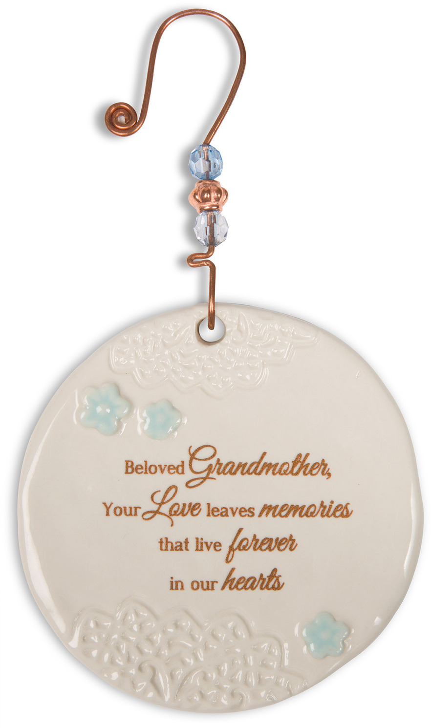 "Beloved Grandmother by Light Your Way Memorial - Beloved Grandmother - 3.5"" Ceramic Ornament"