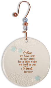 "In Our Hearts Forever by Light Your Way Memorial - 3.5"" Ceramic Ornament"
