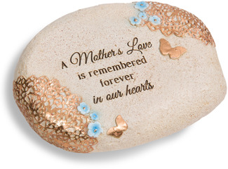"A Mother's Love by Light Your Way Memorial - 6"" x 2.5"" Memorial Stone"