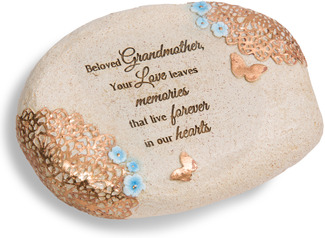 "Beloved Grandmother by Light Your Way Memorial - 6"" L x 2.5"" H Memorial Stone"
