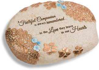 "Faithful Companion by Light Your Way Memorial - 6"" L x 2.5"" H Memorial Stone"
