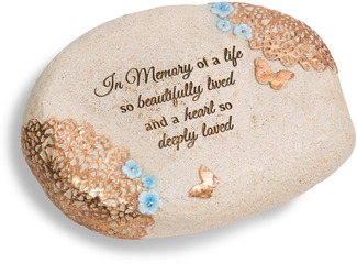 "In Memory by Light Your Way Memorial - 6"" L x 2.5"" H Memorial Stone"