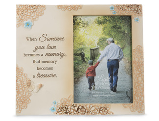 "Treasured Memory by Light Your Way Memorial - 8"" x 7"" Frame (Holds 4x6 Photo)"
