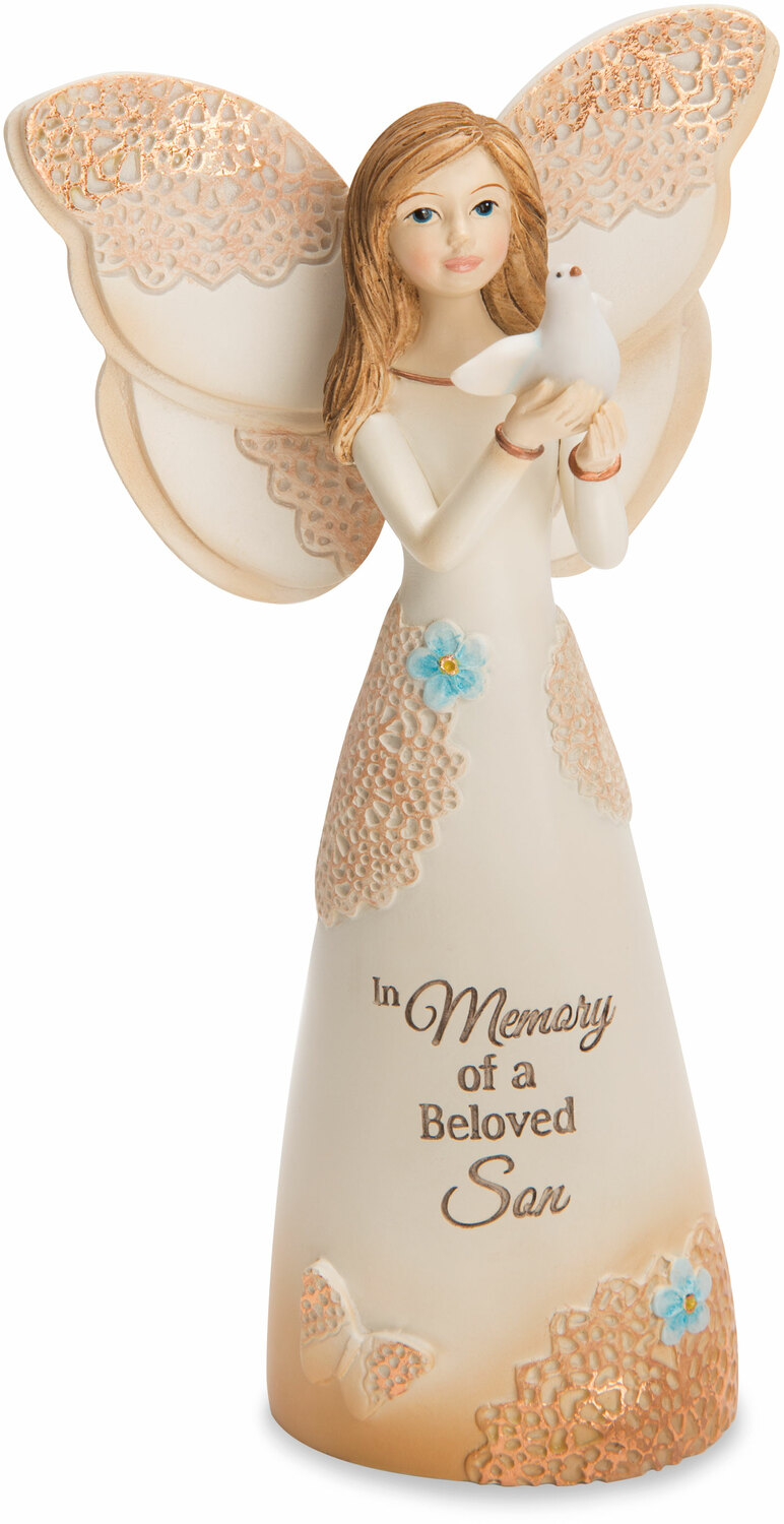 "Beloved Son by Light Your Way Memorial - Beloved Son - 5.5"" Angel with Dove"