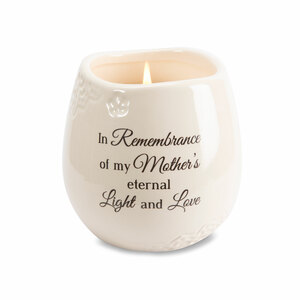 Mother by Light Your Way Memorial - 8 oz - 100% Soy Wax Candle Scent: Tranquility
