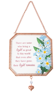 "Light by Light Your Way Memorial - 5"" x 5"" Glass Sun Catcher"