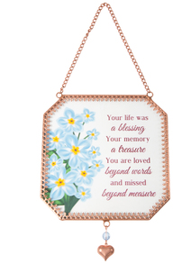 "Beyond Measure by Light Your Way Memorial - 5"" x 5"" Glass Sun Catcher"