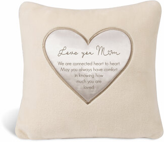 "Mom by Comfort Blanket - 16"" Royal Plush Pillow"