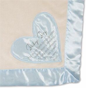 "Baby Boy by Comfort Blanket - 30"" x 40"" Royal Plush Blanket"