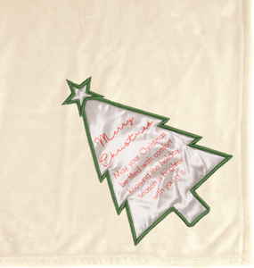 "Merry Christmas by Comfort Blanket - 50"" x 60"" Royal Plush Blanket"