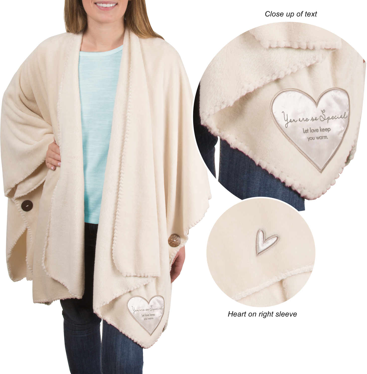 "Someone Special by Comfort Blanket - Someone Special - 50"" x 30"" Royal Plush Comfort Shawl"