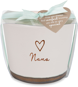 Nana by Comfort Collection - 8 oz - 100% Soy Wax Candle Scent: Tranquility
