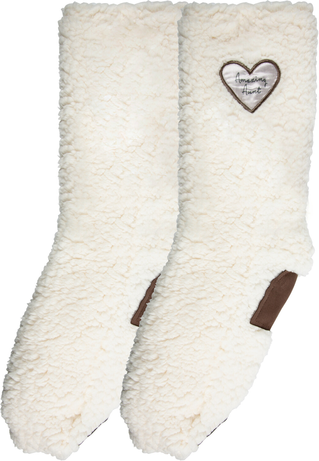 Amazing Aunt by Comfort Collection - Amazing Aunt - One Size Fits Most Sherpa Slipper