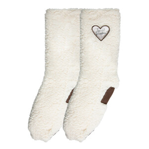 Special Grandma by Comfort Collection - One Size Fits Most Sherpa Slipper