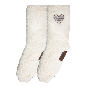 Wonderful Nana by Comfort Collection - One Size Fits Most Sherpa Slipper