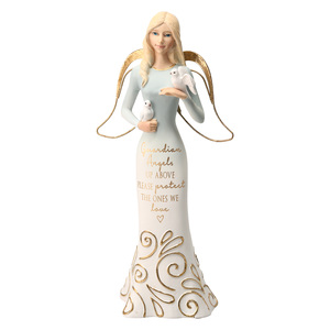 "Guardian Angels by Comfort Collection - 9"" Angel Holding Doves"