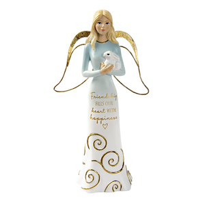 "Friendship  by Comfort Collection - 7.5"" Angel Holding a Bunny"