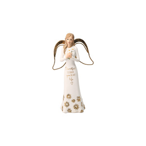 "Thankful by Comfort Collection - 5.5"" Angel Holding Flowers"