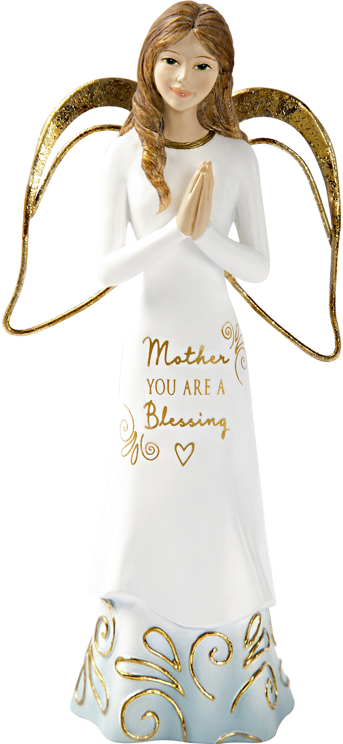 "Mother by Comfort Collection - Mother - 5.5"" Angel with Clasped Hands"