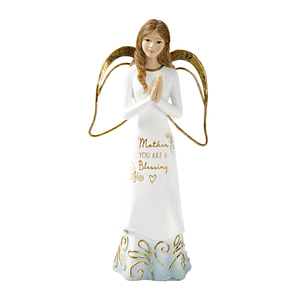 "Mother by Comfort Collection - 5.5"" Angel with Clasped Hands"