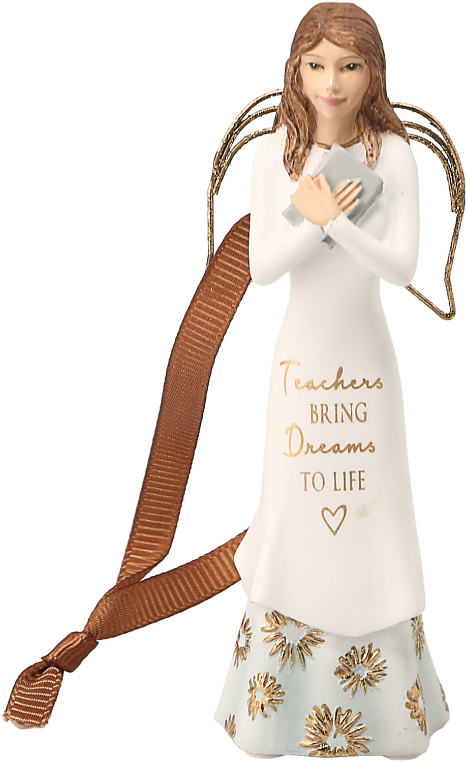 "Teacher by Comfort Collection - Teacher - 4.5"" Angel Ornament"