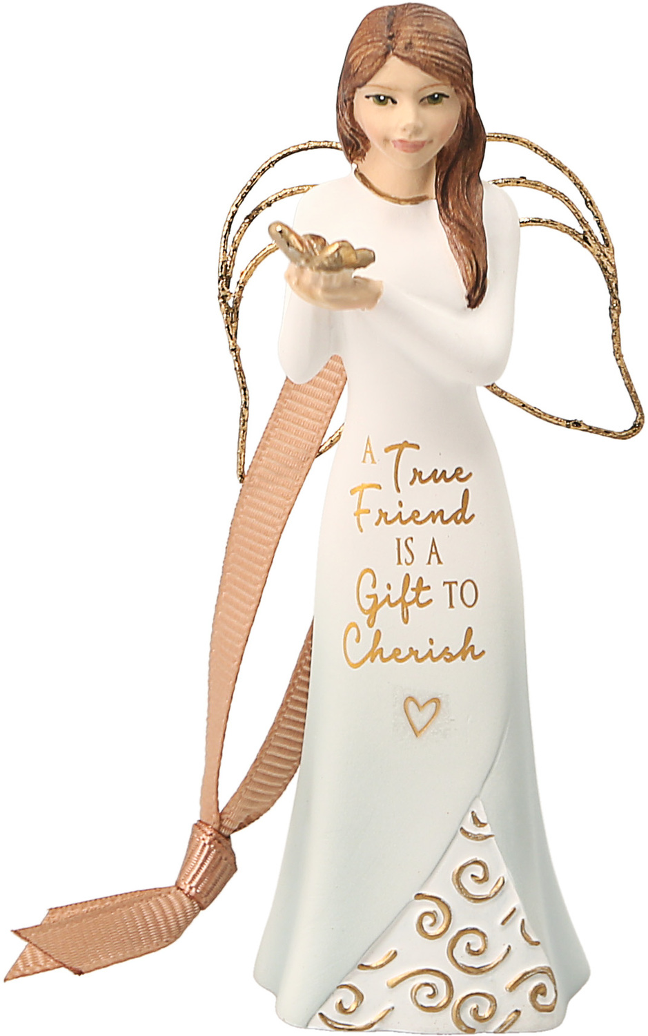 "Friend by Comfort Collection - Friend - 4.5"" Angel Ornament"