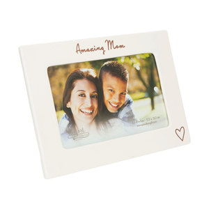 "Amazing Mom by Comfort Collection - 7.5"" x 5.5"" Ceramic Frame (Holds a 6"" x 4"" Photo)"