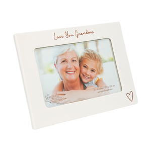"Love You Grandma by Comfort Collection - 7.5"" x 5.5"" Ceramic Frame (Holds a 6"" x 4"" Photo)"