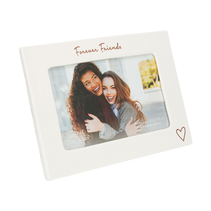"Forever Friends by Comfort Collection - 7.5"" x 5.5"" Ceramic Frame (Holds a 6"" x 4"" Photo)"