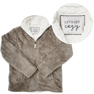 Cozy by Comfort Collection - S/M Unisex Fleece Full Zip Sweatshirt