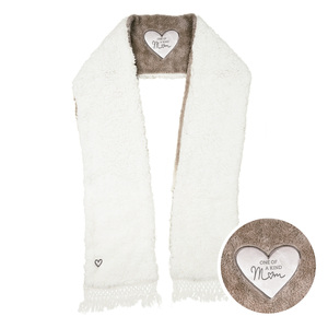 "Mom by Comfort Collection - 71"" Sherpa Pocket Scarf"