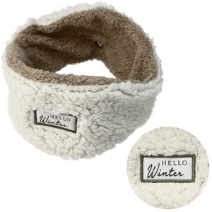 Hello Winter by Comfort Collection - Sherpa Lined, Fleece Headband