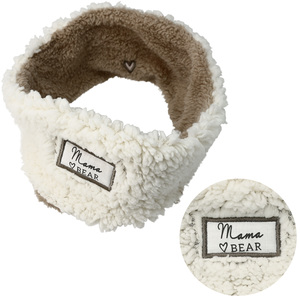 Mama Bear by Comfort Collection - Sherpa Lined, Fleece Headband