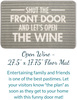 Wine Lover Gift Box by Packaged With Positivity - doormat